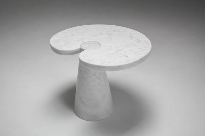 Mangiarotti Carrara Marble Side Table 'Eros series' for Skipper - 1970's