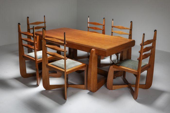Expressionist Modern Oak Dining Room Set - 1930s