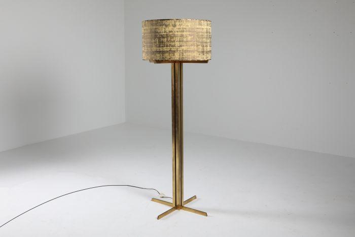 Wabbes Brass Floor Lamp by Jan Vlug - 1970's