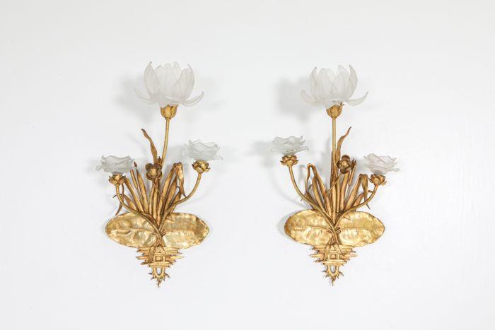 Art Nouveau gilded bronze sconces - 1910