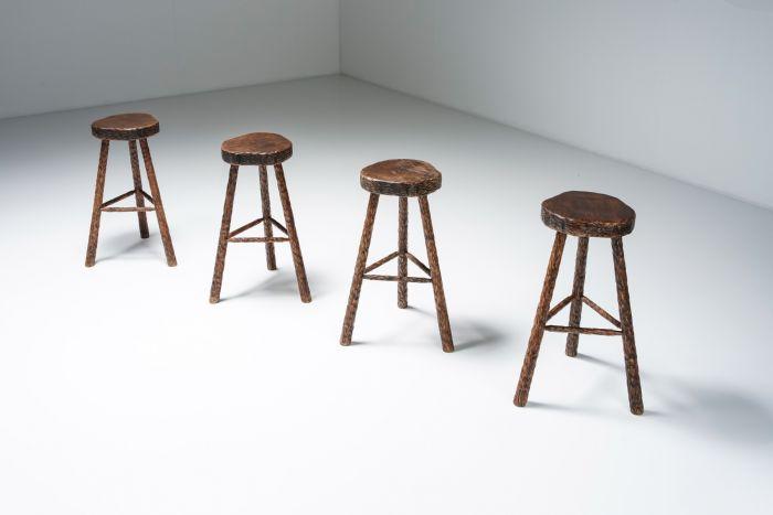 Art Populaire Bar Stools Mid Century Modern - 1950's