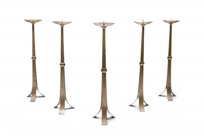 Brass Hammered Candelabra - 1950s