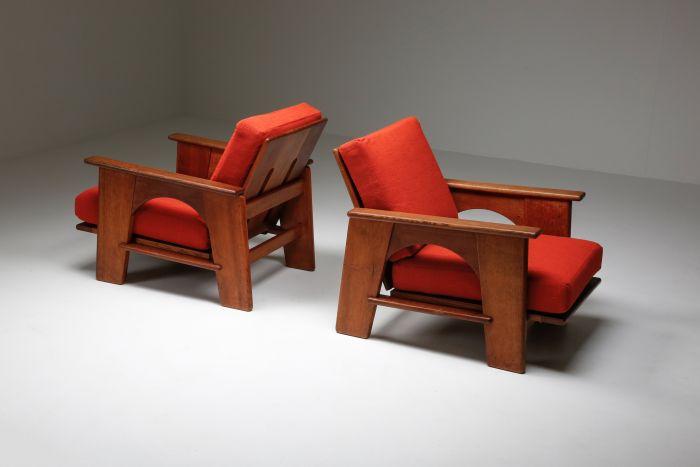 Dutch Oakwood Lounge Seating set by Bas Van Pelt - 1940's