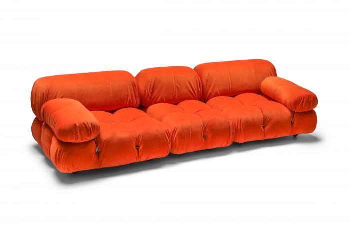 Camaleonda sectional sofa in bright orange  - 1970s