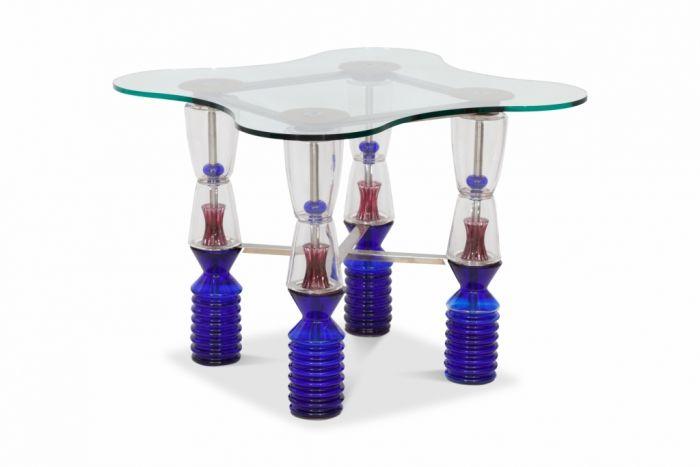 Crystal Glass Gaming Table, Van Praet & Val-Saint-Lambert - 1993