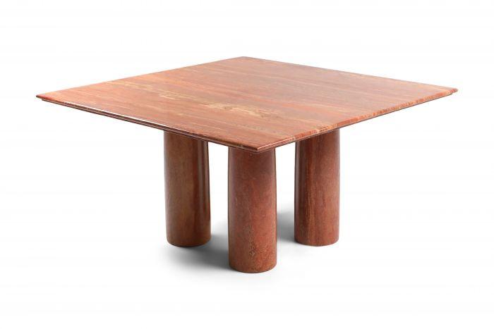 Mario Bellini's Red Travertine 'Il Collonato' Dining Table - 1970s