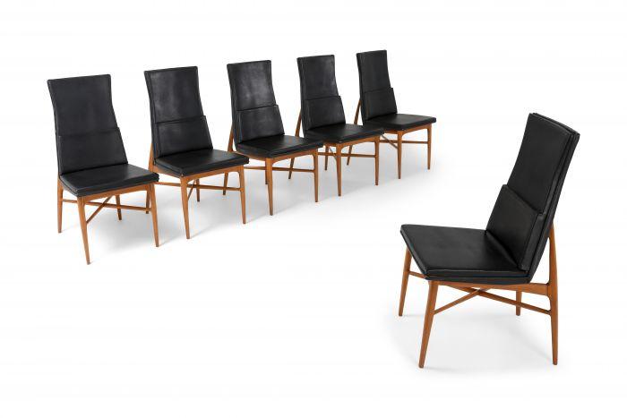 De Coene 'Madison' Dining Chairs in Walnut - 1960s