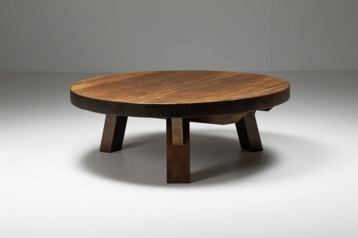 Brutalist Coffee Table with charismatic patina - 1950's