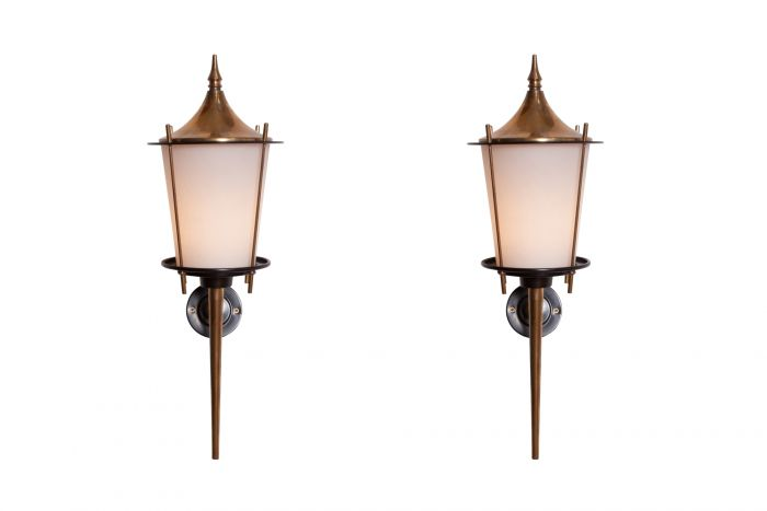 Maison Arlus Pair of Wall Lights - 1970s