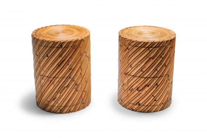 Vivai del Sud pair of side tables - 1970s