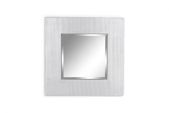 Cast aluminum square mirror by Lorenzo Burchiellaro - 1970s