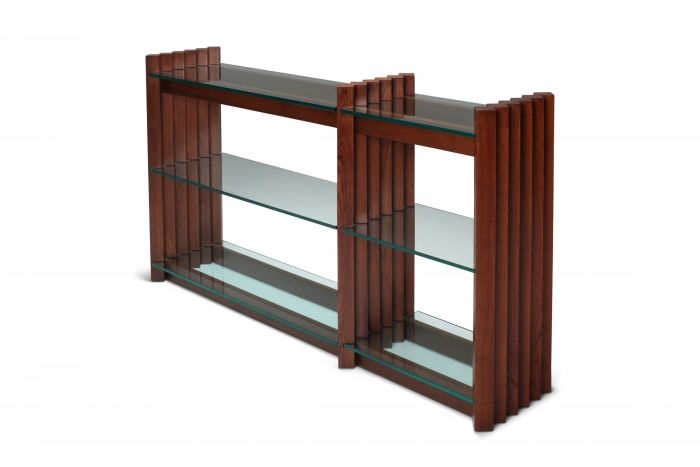 Scarpa console table in stained oak - 1960s