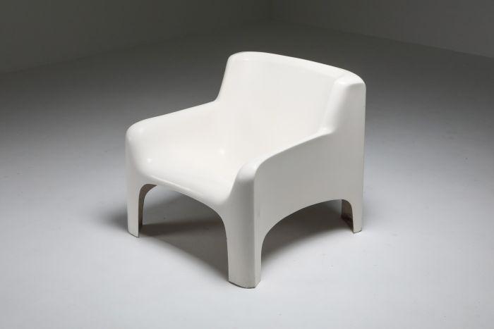 Arflex 'Solar' Lounge Chairs in Fiberglass by Carlo Bartali - 1960's