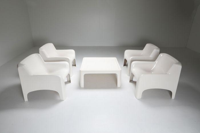 Arflex 'Solar' Lounge Set in Fiberglass by Carlo Bartali - 1960's