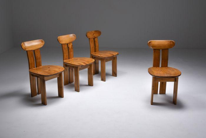 Italian Dining Chairs set Mobilgirgi, Italy - 1970's