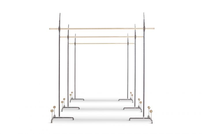 Hollywood Regency Bespoke Clothing Rack in Wrought Iron and Brass - 2018