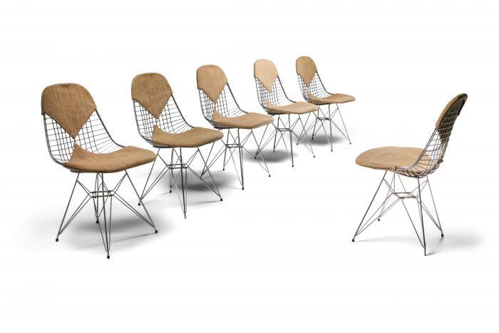 Eames Bikini DKR Wire Chair in Original Canvas - 1960's