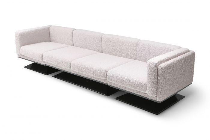 MIM Roma Sectional Sofa in Bouclé Wool by Luigi Pellegrin - 1960s