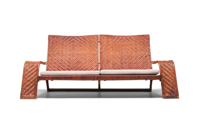 Marzio Cecchi Post-modern Leather 2-Seater Couch - 1970s