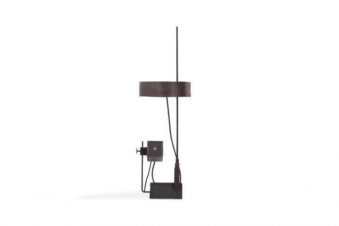 Collectible Design Critique Oblique Table Light in Steel by Atelier Serruys - 2018