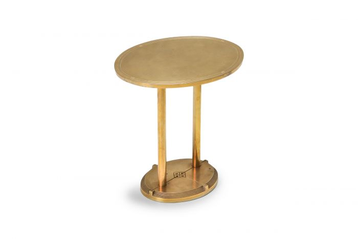 Brass Cast Side Table by Peter Ghyczy - 1980s