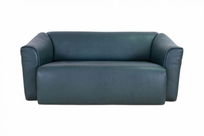 De Sede DS 47 Green Leather Sofa - 2010s