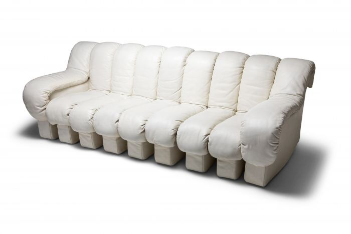 De Sede DS-600 Sectional Sofa in White Leather - 1970's
