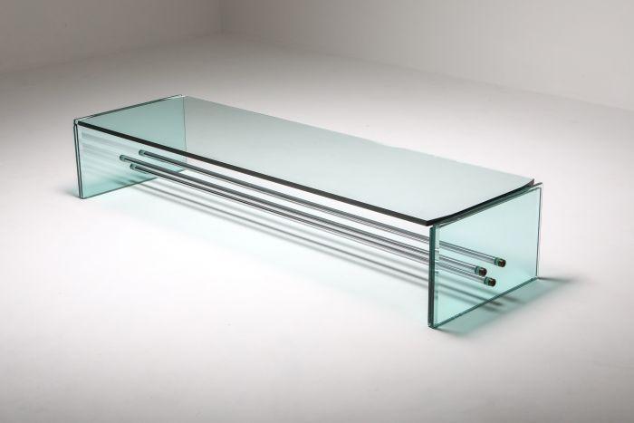 Fontana Arte Large Glass Coffee Table - 1970's