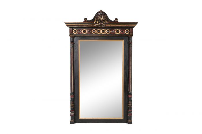Overmantel Mirror Hand Carved in Regency Style