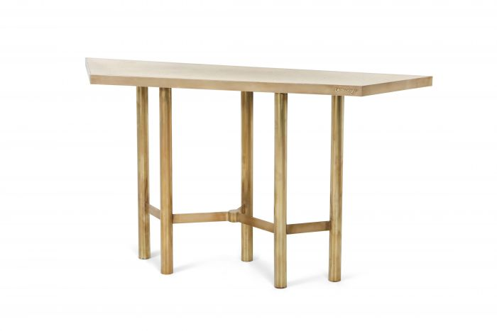 Brass contemporary console table - 2015