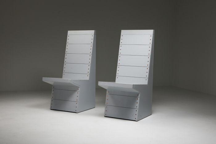 Dom Hans van der Laan chairs by his apprentice Jan de Jong - 1980s