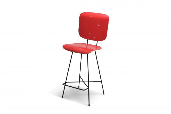 Dutch modernist stool by Coen De Vries - 1950s