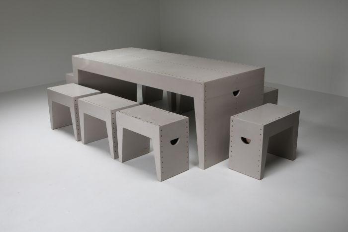 Bossche School Table & Stools, Dom Hans van der Laan & Jan de Jong - 1960s