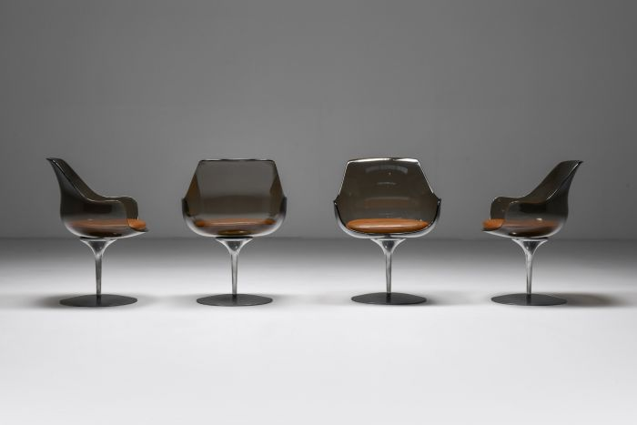 Set of four Champagne Chairs by Erwine & Estelle For Laverne International - 1959