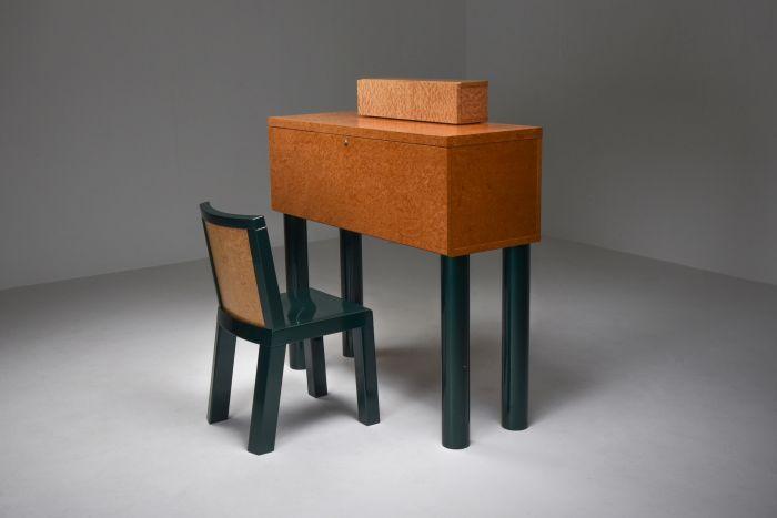Ettore Sottsass and Marco Zannini Donau Writing Desk & Chair - 1980s