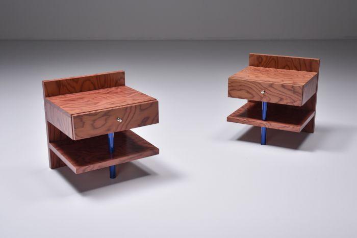 Ettore Sottsass Side Tables for Leitner - 1970s
