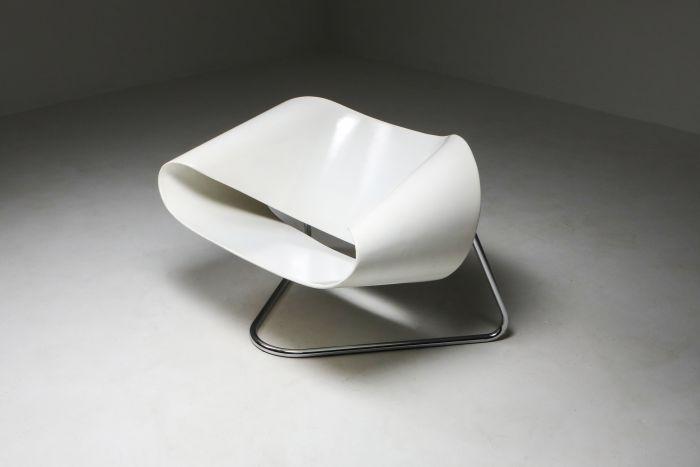 Ribbon chair by Franca Stagi for Bernini - 1961
