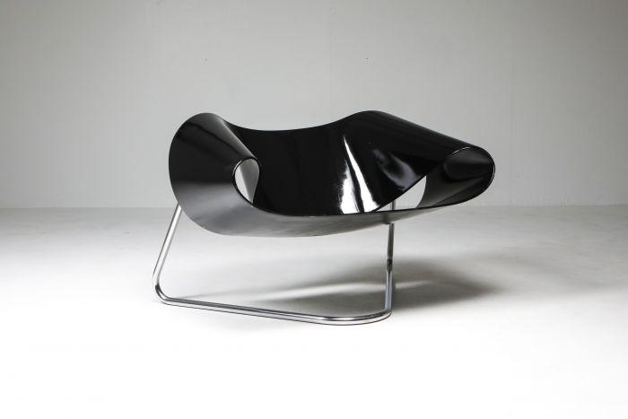 Black Ribbon chair by Franca Stagi for Bernini - 1961