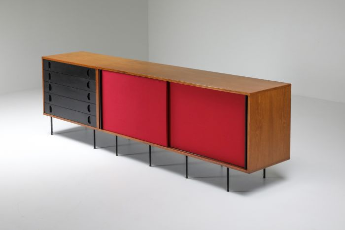 Black and Red Sideboard by Franco Campo and Carlo Graffi - 1950's