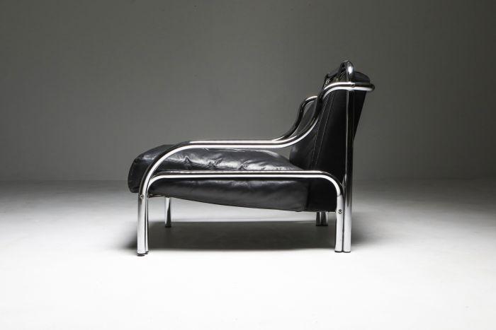 Gae Aulenti 'Stringa' Armchair Black - 1960's