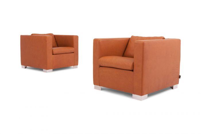 Leather Minotti Suitcase Armchairs, Rodolfo Dordoni - 1990s