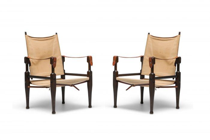 Safari Chairs Designed by Kaare Klint for Rud Rasmussen - 1960s