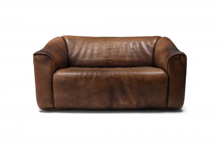 De Sede DS 47 Brown Leather Sofa - 1970s
