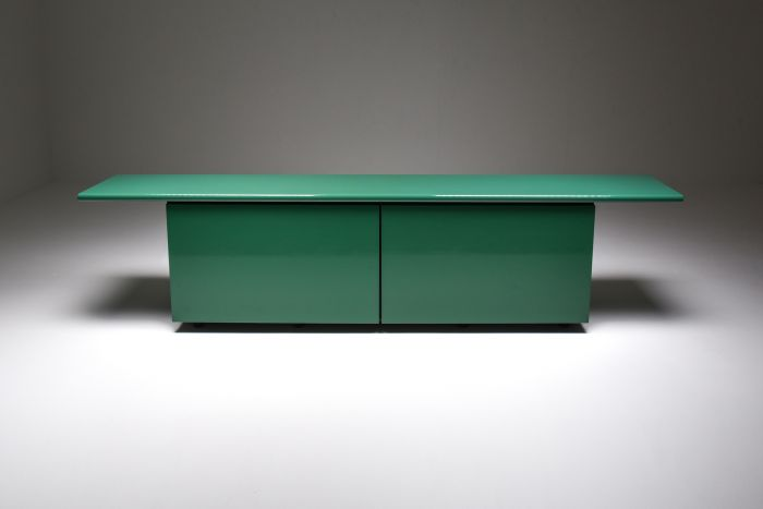 Green  Lacquer Credenza by Giotto Stoppino for Acerbis - 1977