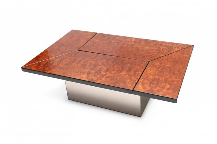 Willy Rizzo Burl Coffee Table - 1970s