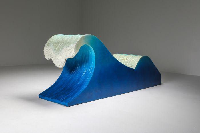 Kanagawa the Great Wave Postmodern Lounge Chair - 1970's