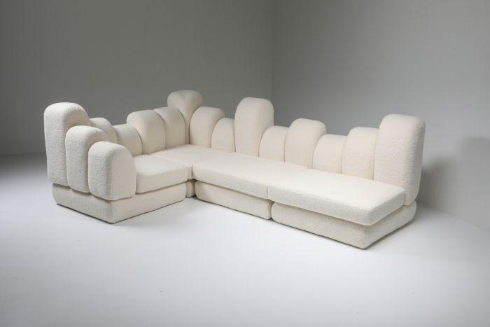 Hans Hopfer 'Dromedaire' Sectional Sofa in Pierre Frey Wool, Roche Bobois - 1974