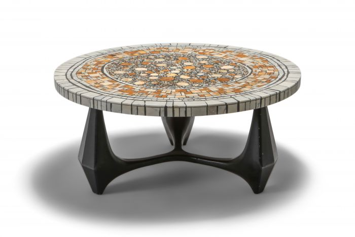 Heinz Lilienthal 'Chartre' marble mosaic coffee table - 1973