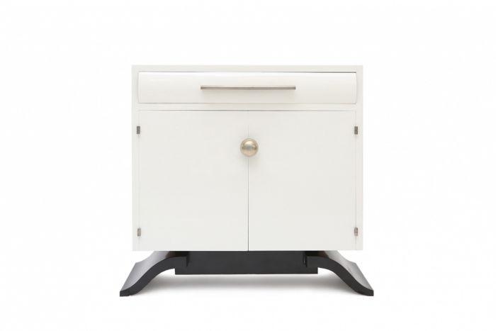 White Ivory Art Deco Cabinet, Charles Van Beerleire - 1930s