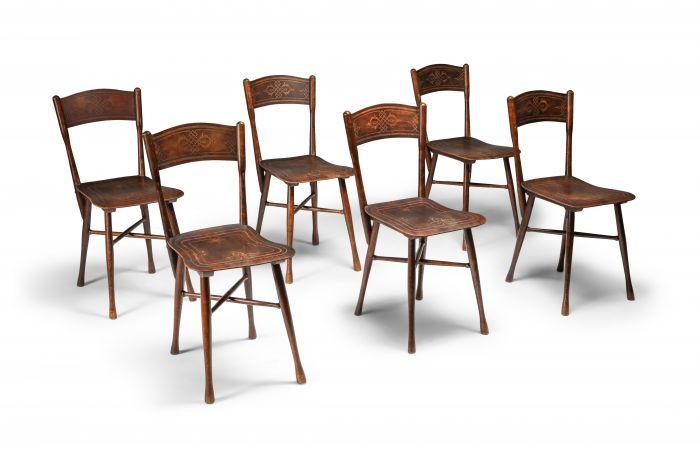 JJ Kohn dining chairs, Austria - 1900